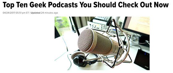 DDG Among the Top Ten Geek Podcasts on HuffPo