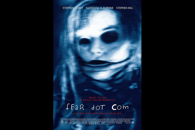 Poster for the 2002 horror film FEARDOTCOM, directed by William Malone.
