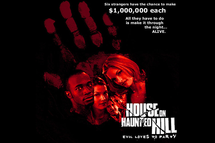 Poster art for director William Malone's HOUSE ON HAUNTED HILL (1999).