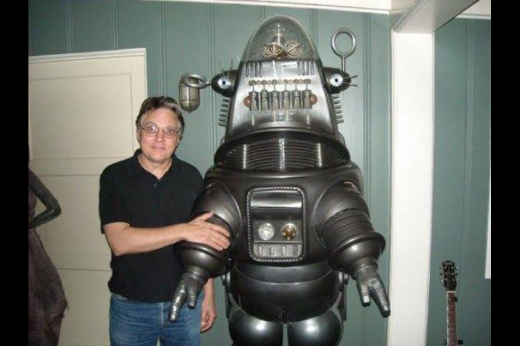 Bill Malone and his good friend Robby the Robot from FORBIDDEN PLANET.
