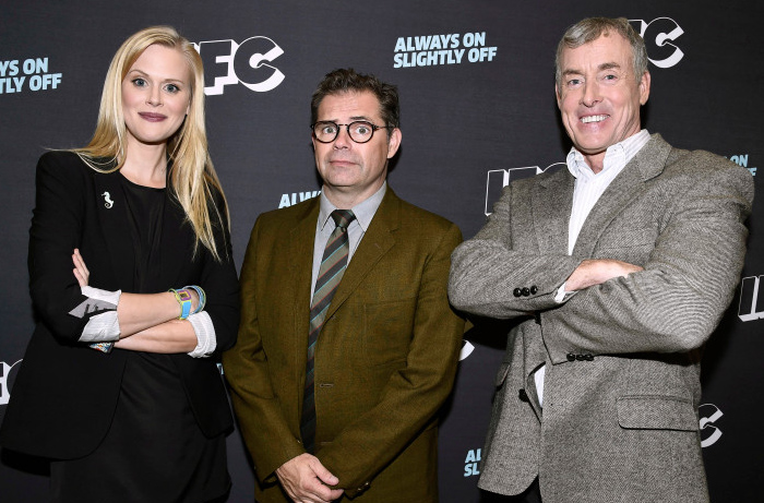 Janet Varney, from left, Dana Gould and John C. McGinley attend the 2016 TCA Panels at the Beverly Hilton Hotel on Sunday, July 31, 2016, in Beverly Hills, Calif. (Photo by Dan Steinberg/Invision for IFC/AP Images)