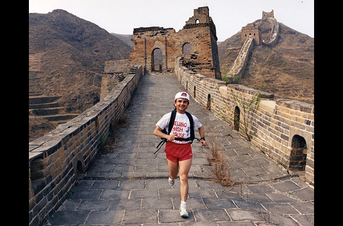Several of the 50,000-plus miles Bobby Porter has run were spent atop the Great Wall in China.