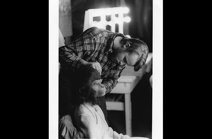 Bobby Porter being transformed into Cornelius by makeup artist Jimmy Phillips, about whom Bobby shares a tender, impactful story in our podcast.