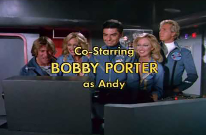Bobby Porter's credit screen for the short-lived 1977-78 sci-fi comedy series QUARK.