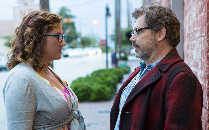 Deborah Baker Jr. shares a scene with series creator Dana Gould on the set of STAN AGAINST EVIL.