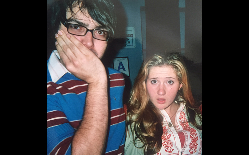 Deborah Baker Jr. kindly shared this candid photo of Jonah Ray and herself, back in the days when both worked at ArcLight Theaters.