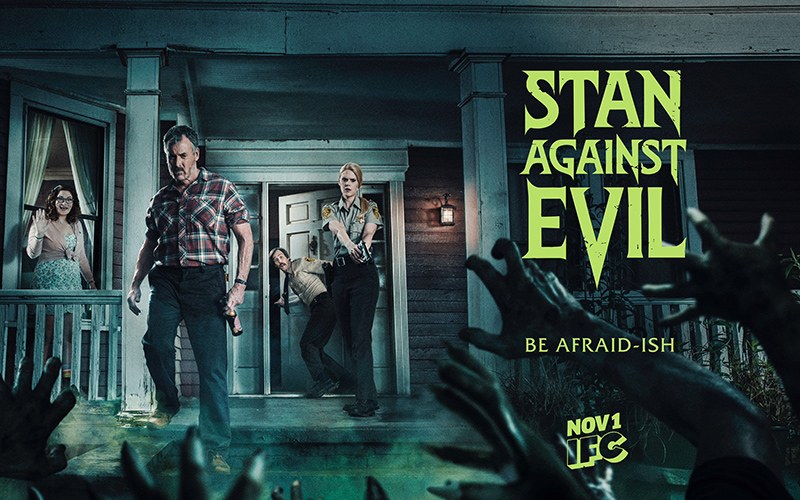 Dana Gould's horror comedy series STAN AGAINST EVIL, starring Deborah Baker Jr., Janet Varney, John C. McGinley and Nate Mooney, returns for its third season on IFC this fall.