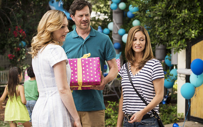 (L to R) Judy Greer, Tom Everett Scott and Andrea Savage in I'M SORRY.