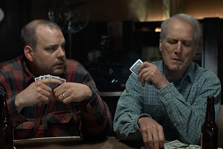 Pruitt Taylor Vince as Rub Squeers in a scene with Paul Newman from the 1994 film NOBODY'S FOOL.