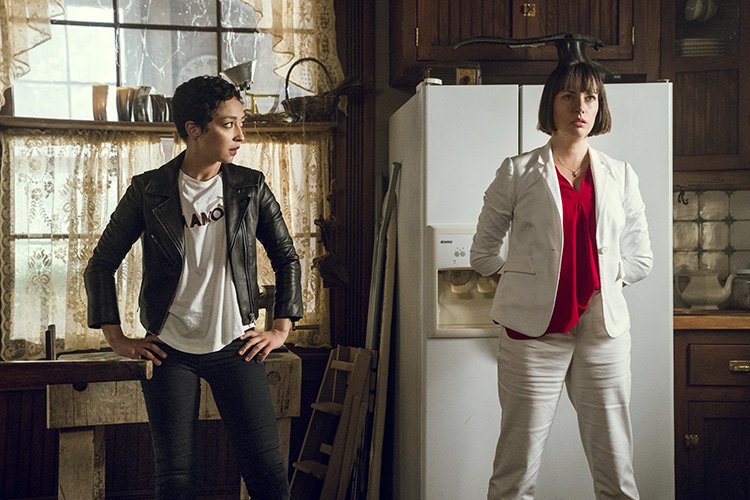 Julie Ann Emery as Featherstone, Ruth Negga as Tulip O'Hare - Preacher _ Season 3, Episode 7 - Photo Credit: Alfonso Bresciani/AMC/Sony Pictures Television